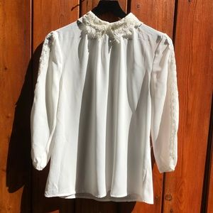 Forever 21|White Lace Collar Blouse